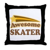 Awesome Skater Throw Pillow