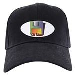 Old School Floppy Disk Black Cap