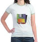 Old School Floppy Disk Jr. Ringer T-Shirt