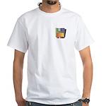 Old School Floppy Disk White T-Shirt