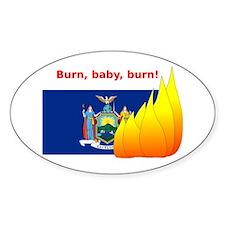 New York State Flag Burn Decal