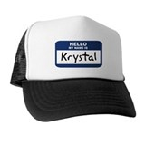 Hello: Krystal Trucker Hat