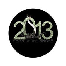 "Year of the Snake 3 3.5"" Button (100 pack)"