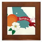 Georgia Girl Framed Tile