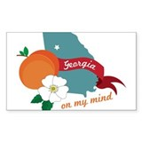 Georgia On My Mind Decal
