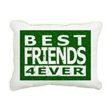 Best Friends 4 Ever Rectangular Canvas Pillow