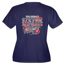 Promoted Aunt Women's Plus Size V-Neck Dark T-Shir