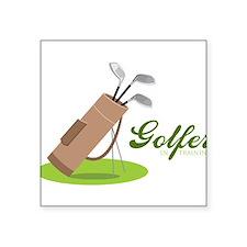 Golfer in Training Sticker