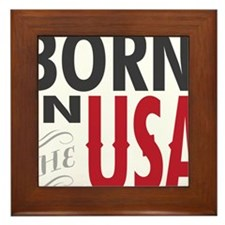 Born In The USA Framed Tile