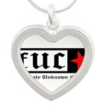 Famously Unknown Clothing Silver Heart Necklace