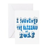 I Survived The Blizzard of 2013 Greeting Card