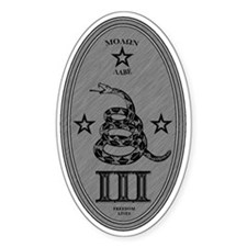 Molon Labe Vertical Silver Oval Decal