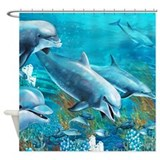 Beautiful Dolphin Painting Shower Curtain