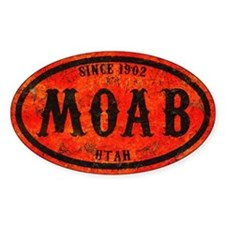 Moab Distressed Rust Decal
