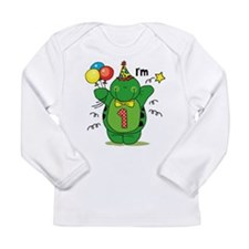 Happy Turtle 1st Birthday Long Sleeve Infant Tee