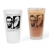 Abraham Lincoln & Charles Darwin Drinking Glass
