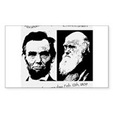 Abraham Lincoln &amp; Charles Darwin  Aufkleber