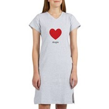 Angie Big Heart Women's Nightshirt
