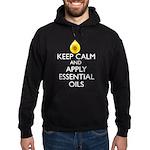 Keep Calm and Apply Essential Oils Hoodie (dark)