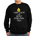 Keep Calm and Apply Essential Oi Sweatshirt (dark)