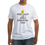 Keep Calm and Apply Essential Oils Fitted T-Shirt