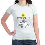 Keep Calm and Apply Essential O Jr. Ringer T-Shirt