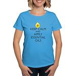 Keep Calm and Apply Essential Women's Dark T-Shirt