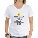 Keep Calm and Apply Essenti Women's V-Neck T-Shirt