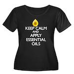 Keep Cal Women's Plus Size Scoop Neck Dark T-Shirt