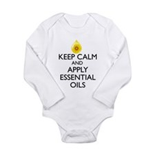 Keep Calm and Apply Es Long Sleeve Infant Bodysuit