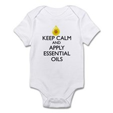 Keep Calm and Apply Essential Oils Infant Bodysuit