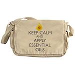 Keep Calm and Apply Essential Oils Messenger Bag