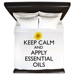Keep Calm and Apply Essential Oils King Duvet