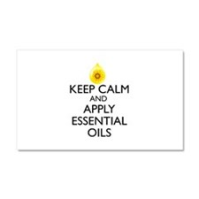 Keep Calm and Apply Essential O Car Magnet 20 x 12