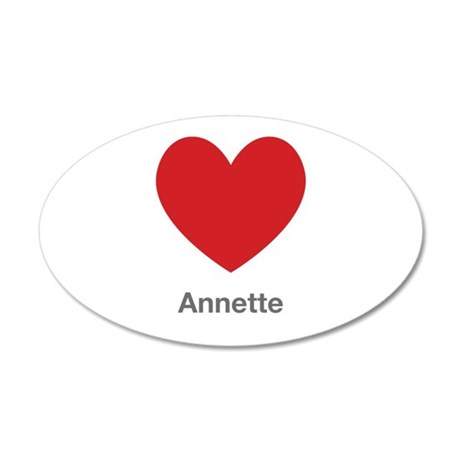 Annette Big Heart Wall Decal