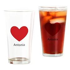 Antonia Big Heart Drinking Glass