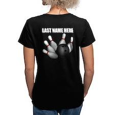 Individual Personalized Bowling Womens VNeck Shirt