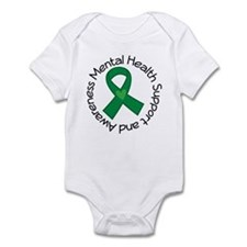 Mental Health Heart Ribbon Infant Bodysuit