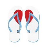 Bridget Big Heart Flip Flops