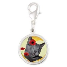 Poppy Unconditional Love Silver Round Charm