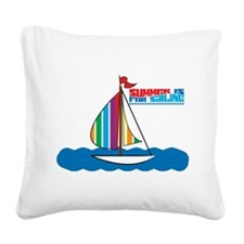 Sailing Square Canvas Pillow