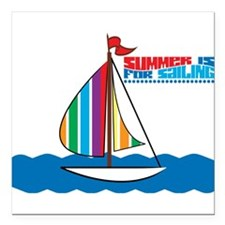 "Sailing Square Car Magnet 3"" x 3"""