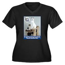 Cats on Pedestals Plus Size T-Shirt