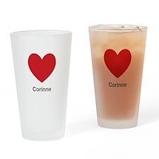 Corinne Big Heart Drinking Glass