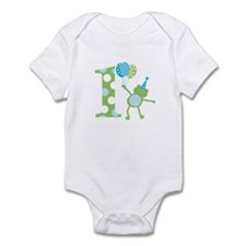 Leap Frog 1st Birthday with Party Hat Body Suit