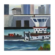 On the River In New Orleans Tile Coaster