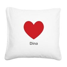 Dina Big Heart Square Canvas Pillow