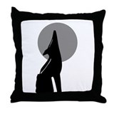 The Space Coyote Throw Pillow