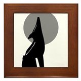 The Space Coyote Framed Tile
