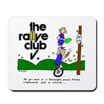 Mousepad w/ unicycle cartoon